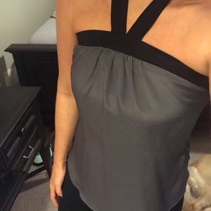 Black and Gray Top